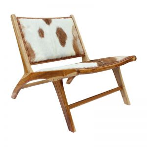 The Joakim Chair   Brown and White Hide   By Coco Unika