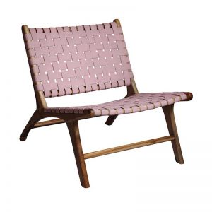 The Joni Chair | Blush Rose Leather | by Coco Unika
