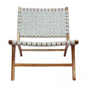 The Joni Chair | Grey Smoke Leather | by Coco Unika