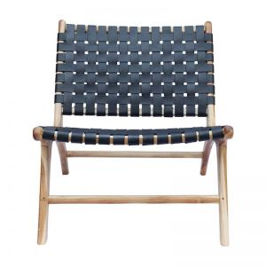The Joni Chair | Midnight Navy Leather | by Coco Unika