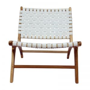 The Joni Chair | White Snow Leather | by Coco Unika
