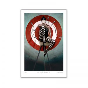 The Knife Thrower III | Limited Edition Print | by Gill Del-Mace