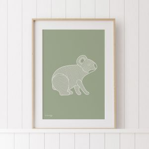 The Koala | Unframed Art Print by Kurt Hardy