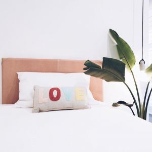 The Leather Bedhead | Single Pink