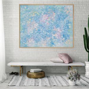 The Luna   Framed Canvas Print   P1004-354   Colour Clash Studio
