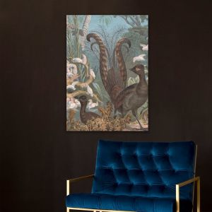 The Lyrebird Lithograph | Stretched Canvas | Printed Panel