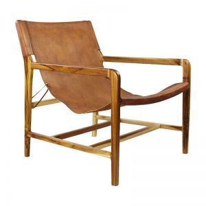 The Moss Chair | Antique Tan Leather | By Coco Unika