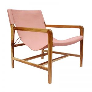 The Moss Chair | Blush Rose Leather | by Coco Unika