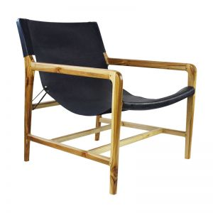 The Moss Chair | Midnight Navy Leather | By Coco Unika