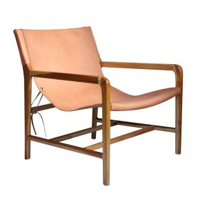 The Moss Chair | Nude Light Leather | by Coco Unika