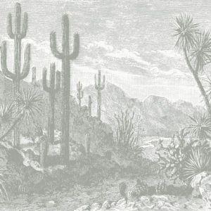 The Oasis Desert Wall Mural - Green
