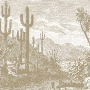 The Oasis Desert Wall Mural - Tan