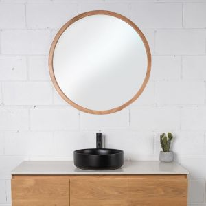 The Organic Round Timber Mirror | Various Timber and Sizes