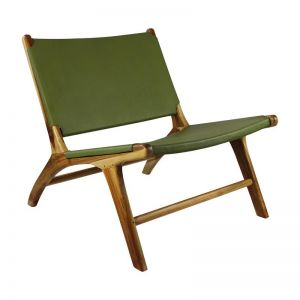 The Oslo Chair | Olive Green Leather | by Coco Unika
