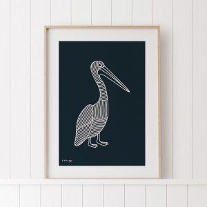 The Pelican   Original Artwork by Kurt Hardy
