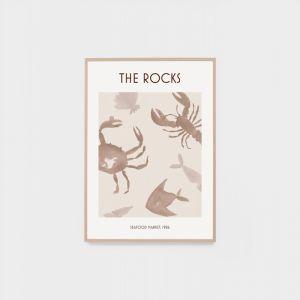 The Rocks Poster Natural | Framed Vintage Poster