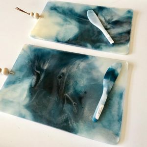 The SAND + SEA collection | Resin Homewares | Serving Board in SEA