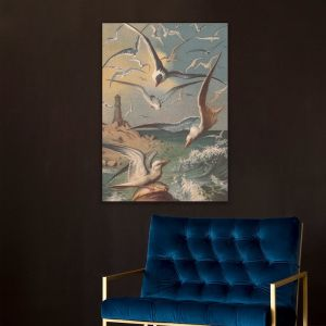 The Seagulls Lithograph | Stretched Canvas | Printed Panel