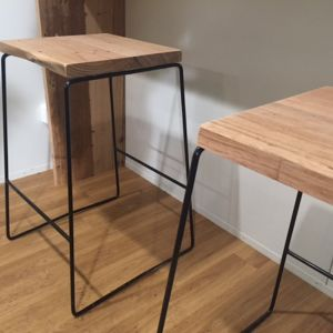 The Shay Stool   by Connollys Timber   Black