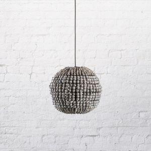 The Sphere | Clay Pendant | Grey