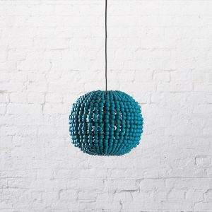 The Sphere | Clay Pendant | Teal