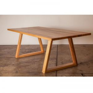 The Trestle | Recycled Blackbutt Dining Table | Light | by Ingrain Designs