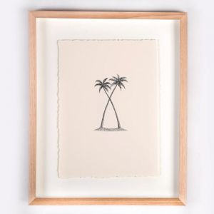 The Twin Palms Illustration | Print by Adrianne Design