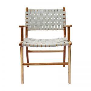 The Ulla Chair   Grey Smoke Leather   by Coco Unika
