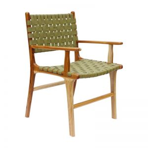 The Ulla Chair | Olive Green Leather | by Coco Unika