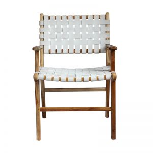 The Ulla Chair | White Snow Leather | By Coco Unika