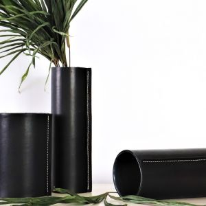 The Vas   Black Soot Leather   By Coco Unika