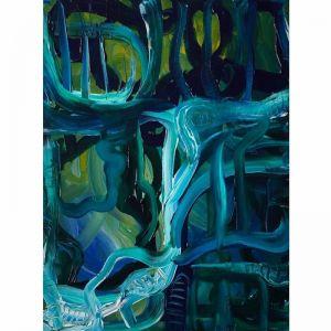 The View | Teal & Emerald No.1 | Original artwork by Peter Daavid