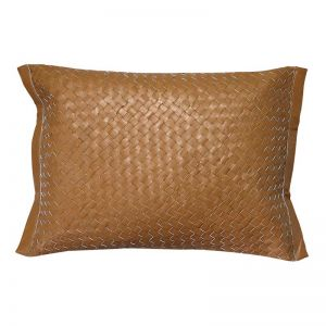The Viktor Cushion | Caramel Nappa Leather | by Coco Unika