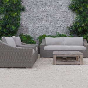 The Wave Rattan 3 seat Sofa | Style Temple