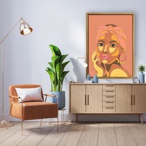 They Call Me Lola in Sandstone | By Pick a Pear | Canvas Print