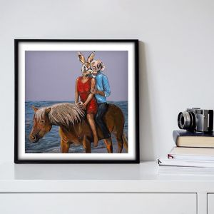 They had a Passion for Horses | Limited Edition Giclee Print | by Gillie and Marc