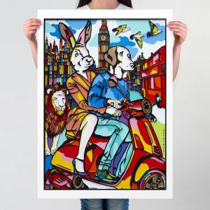 They Loved London | Limited Edition Giclee Print | by Gillie and Marc