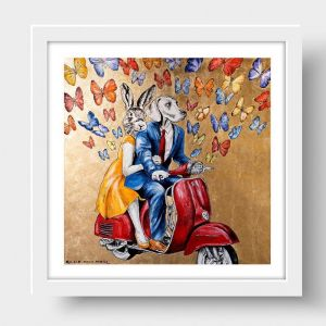 They Thought They Could Fly Away to a Land of Hope & Beauty | Limited Edition Giclee Print | by Gill