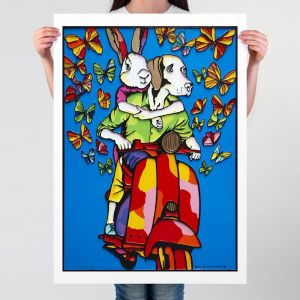 They were bursting with love  | Limited Edition Giclee Print | by Gillie and Marc