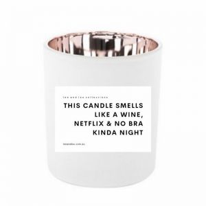 This Candle Smells Like A Wine, Netflix & No Bra Kinda Night | Quote Candle By Lee & Lou