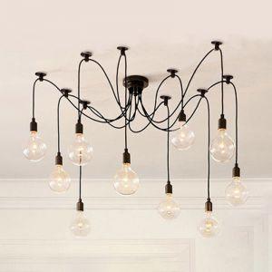 Thomas Edison Bulb Chandelier Pendant Light Replica | 10 Heads