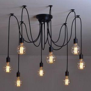 Thomas Edison Bulb Chandelier Pendant Light Replica | 8 Heads