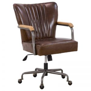 Tilda Office Chair | Vintage Cigar | Schots