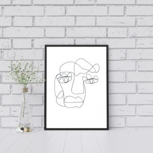 Tillie | One Line Art Print | Jess Marney Design