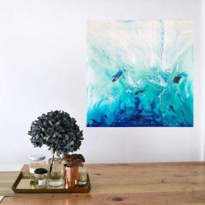 Timelessness in Ko Bon   Azure Portals   Original Abstract Artwork   Antuanelle