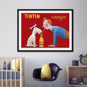 Tintin Orange Soda Vintage Poster | Unframed Art Print