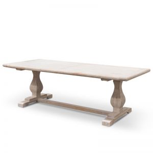 Titan Reclaimed Dining Table 2.4m | Rustic White Washed | Interior Secrets