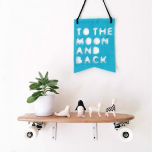 To the Moon and Back Banner by Homely Creatures | Various Colours