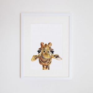 Toby the Giraffe Giclee Print | by For Me By Dee