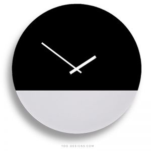 TOO tone wall clocks by TOO designs - Black and White